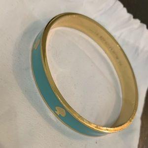 Kate Spade Teal and Gold bangle